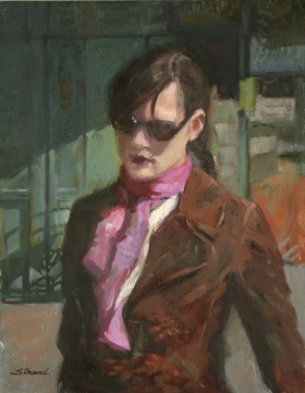 GIRL WITH SUNGLASSES  AND SCARF
