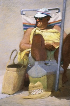MAN WITH YELLOW TOWEL