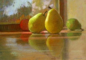 PEARS ON A WINDOWSILL